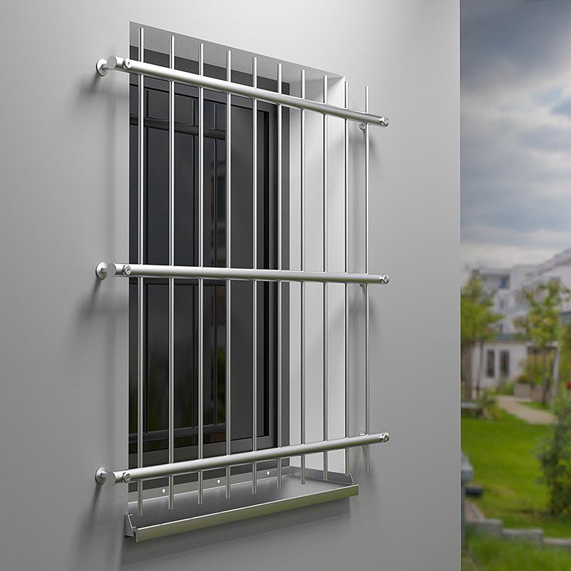 Befestigung fenster beispiel eines zur von fenstern in - Fenstergitter fur katzen ...