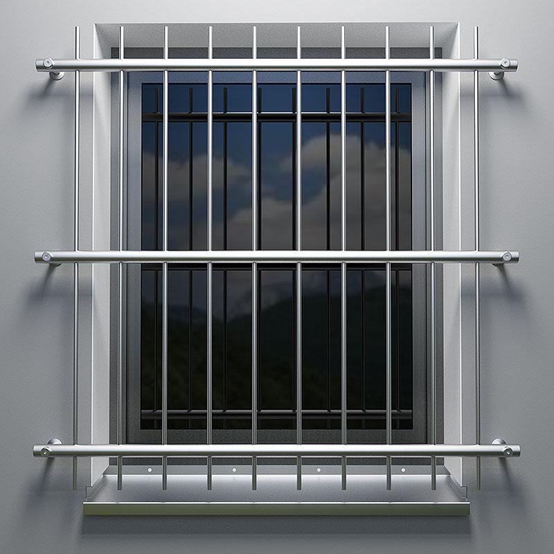 Fenstergitter Aus Edelstahl Befestigung Vor Der Laibung
