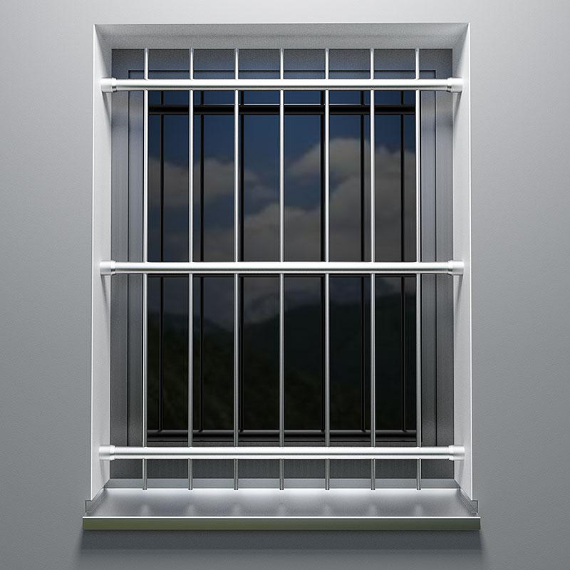 Fenstergitter Aus Edelstahl Befestigung Zwischen Der Laibung