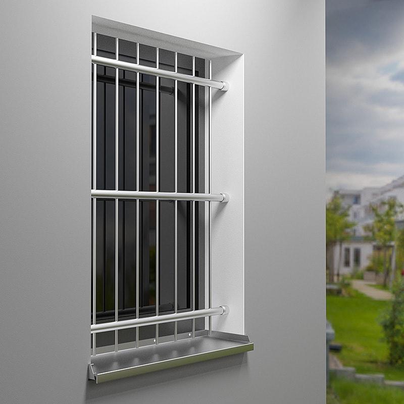 Fenstergitter aus edelstahl befestigung zwischen der laibung - Fenstergitter in der laibung ...